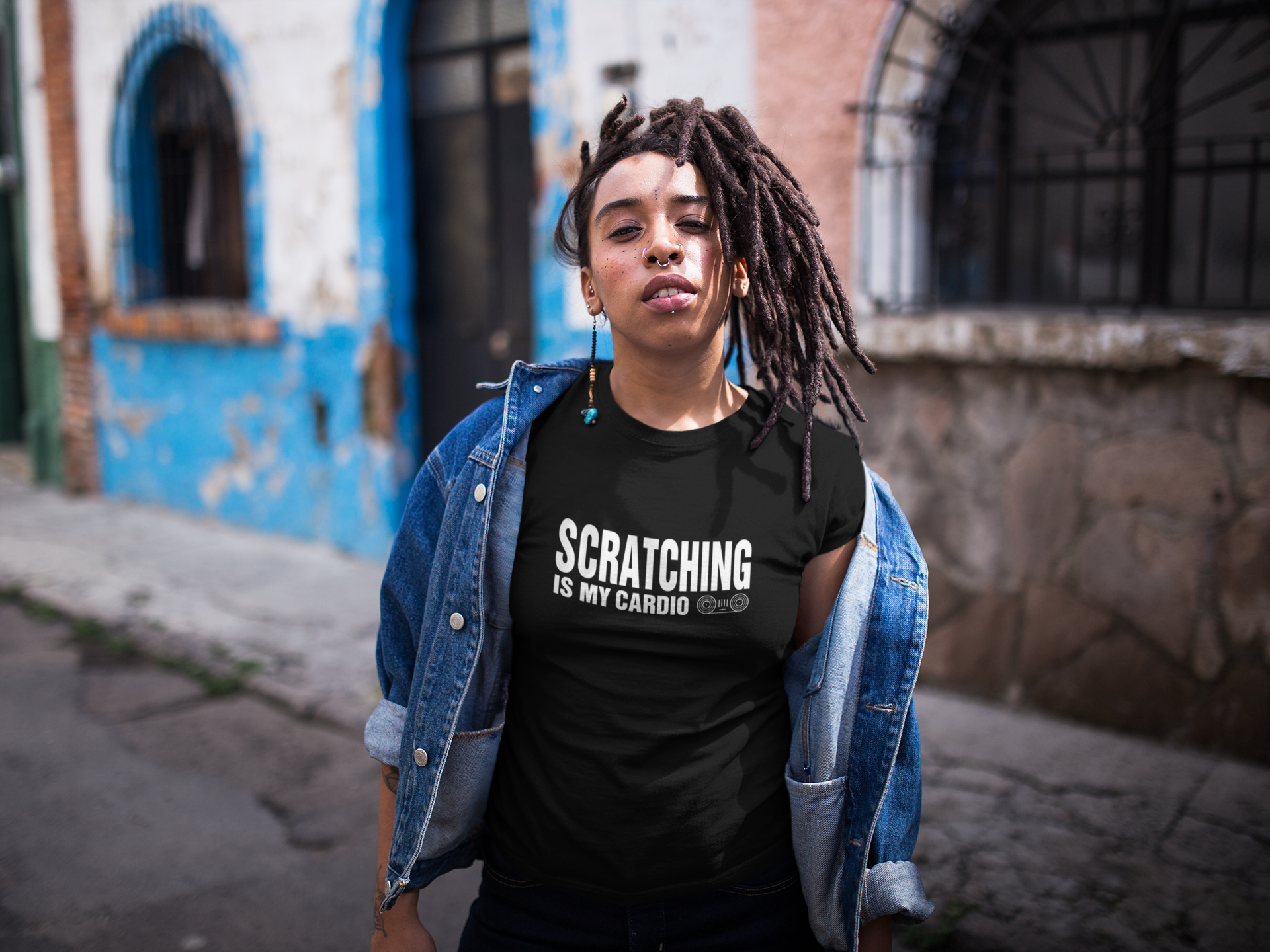 Scratching Is My Cardio - Mens Unisex DJ T-Shirt