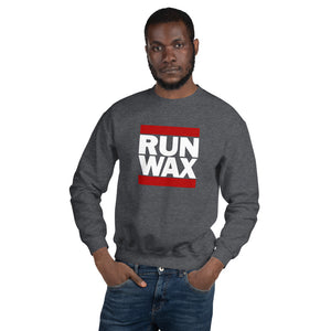 dirtystyluswear - Run Wax - Mens Unisex DJ Vinyl Record Sweatshirt - dirtystyluswear.com - Sweatshirt
