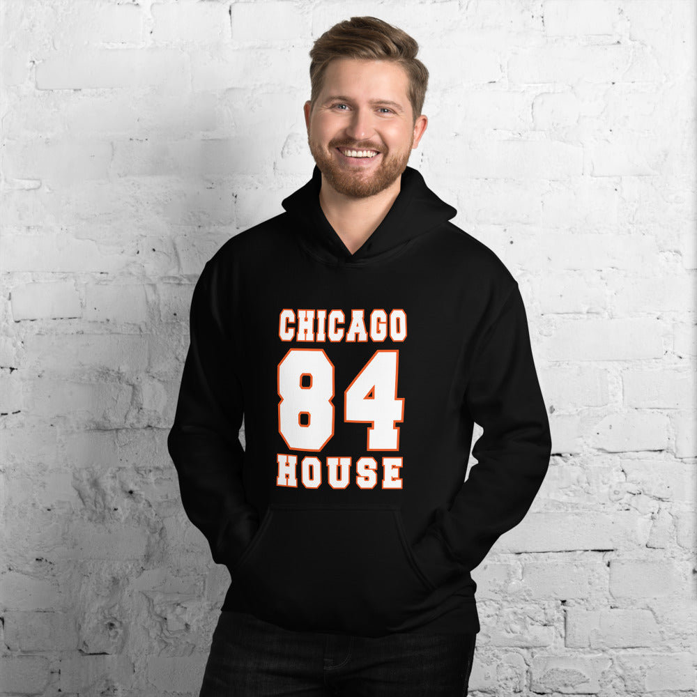 dirtystyluswear - Chicago House Music 1984 - Mens Unisex DJ Hoodie - dirtystyluswear.com - Hoodie