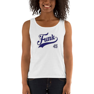 dirtystyluswear - Funk 45 RPM - Ladies DJ Vinyl Record Tank Top - dirtystyluswear.com - Ladies Tank