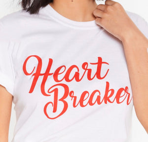 Heart Breaker Round Neck Tee