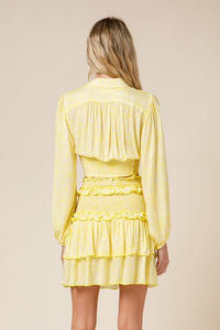 Lemon Drop Ruffled Mini Skirt