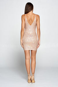 Someone Say Champagne Mini Dress