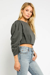 Structured Cropped Sweatshirt