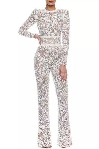 Sweet Nothings White Lace Jumpsuit