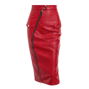 Zip Me Up Leather Skirt
