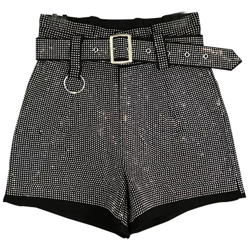 All About the Glitz High Waisted Shorts