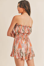 Load image into Gallery viewer, Aztec Tribal Tube Top & Skirt Set in Salmon