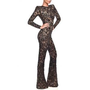 Sweet Nothings Black Lace Jumpsuit
