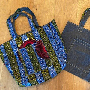 Abina & Denim Reversible Tote Bag