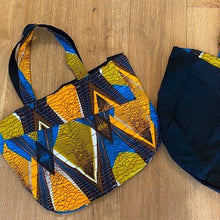 Load image into Gallery viewer, Abina & Denim Reversible Tote Bag