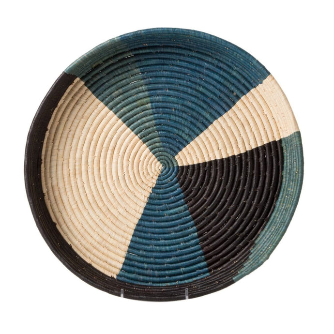 Tray - Cool Color Blocked Raffia