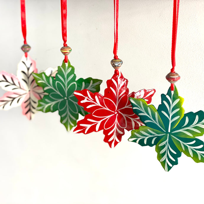 Haitian Steel Drum Snowflake Ornament