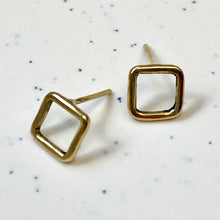 Load image into Gallery viewer, Brass Geo Studs