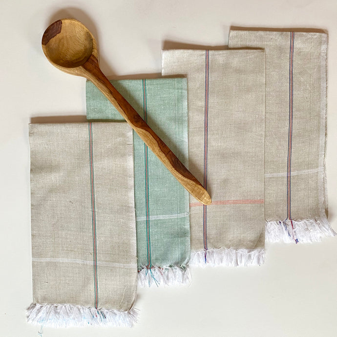 Chef's Bundle - Tea Towel + Wooden Spoon