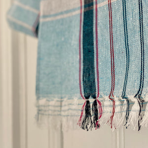 Handwoven Cotton Checked Towel