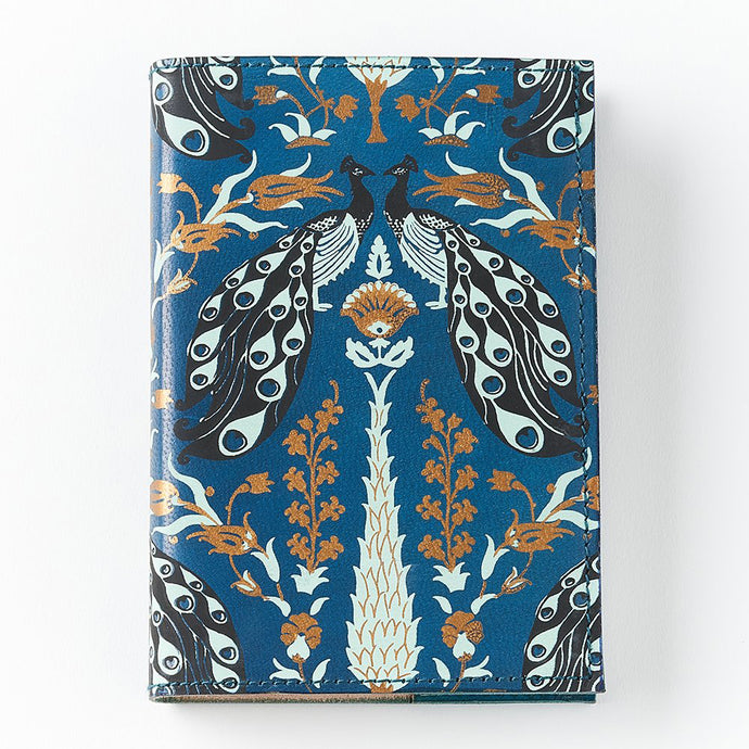 Leather Journal - Blue Peacock