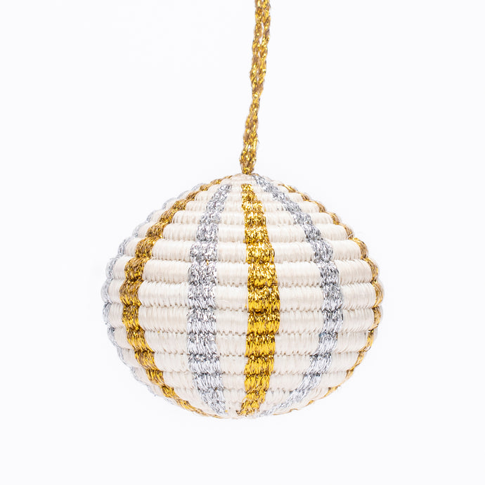 Ornament - Multi Metallic Globe