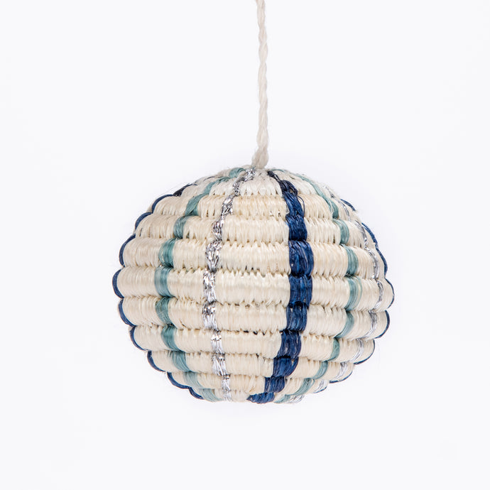 Ornament - Blue Metallic Globe