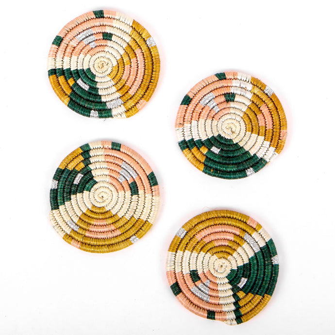 Coaster Set - Matisse Metallic Floret