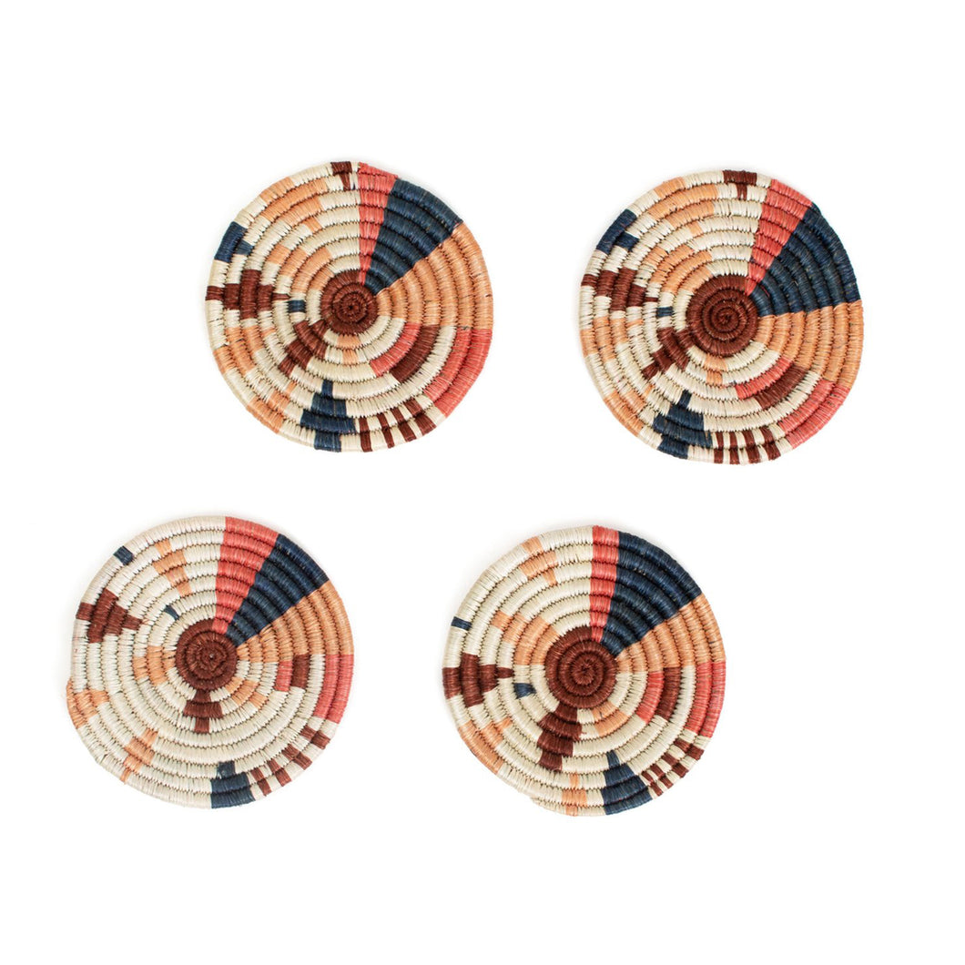 Coaster Set - Coral Biko