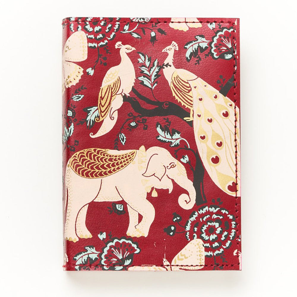 Leather Journal - Red Garden