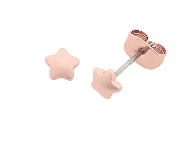 Jacob Little Dulwich Hill- Liberte- Petite Earring-Rose Gold- Star