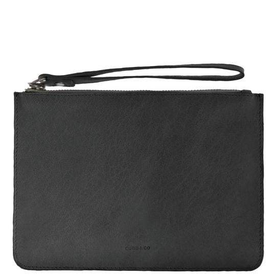 Jacob Little-Dulwich Hill-Leather Pouch -Black
