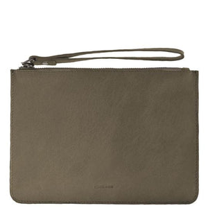 Jacob Little-Dulwich Hill-Leather Pouch -Olive