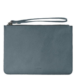 Jacob Little-Dulwich Hill-Leather Pouch -Steel Blue