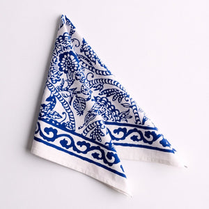Jacob Little-Dulwich Hill-Napkins-Hand Block Printed-Blue