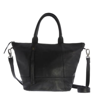 Jacob Little-Dulwich Hill-Violet handbag-Leather-Black