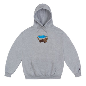 Jacuzzi Hoodie Grey *Embroidered
