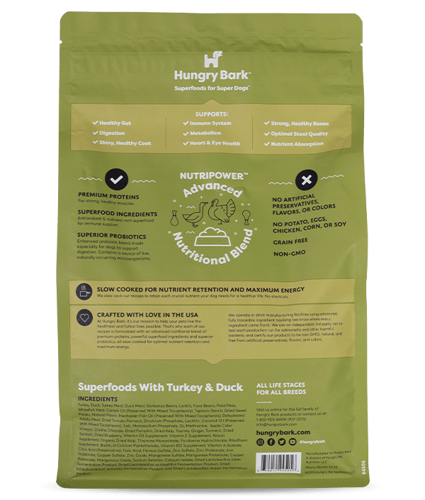 Hungry Pet - Superfoods with Turkey & Duck (Grain-Free) (20% Off Trial Offer)