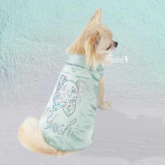 Tiffany Dreams Crystal Portrait Customised Dog Jacket