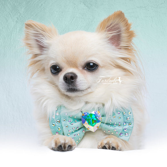 Tiffany Dreams Luxury Silk Dog Bow Tie