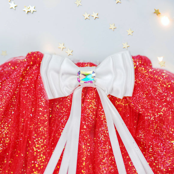 Christmas tutu set in red/ivory