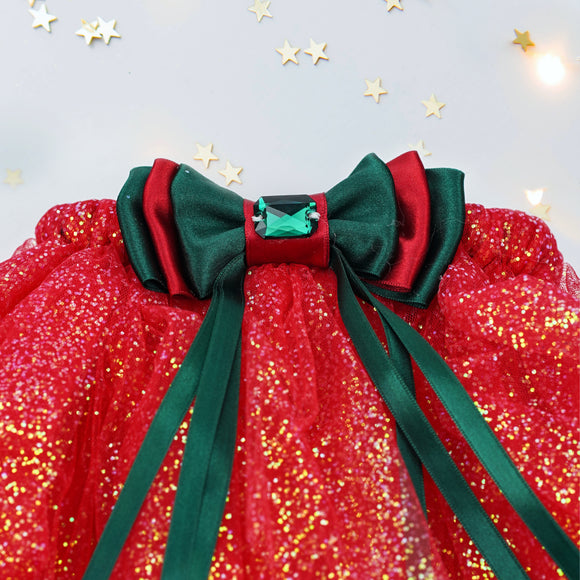 Christmas tutu set in red/green
