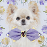 Primroses and Violets | Silk Reversible Bow Tie | Large | Heart Of The Ocean