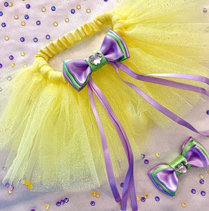 Primroses & Violets Fairy Dust tutu in yellow primrose