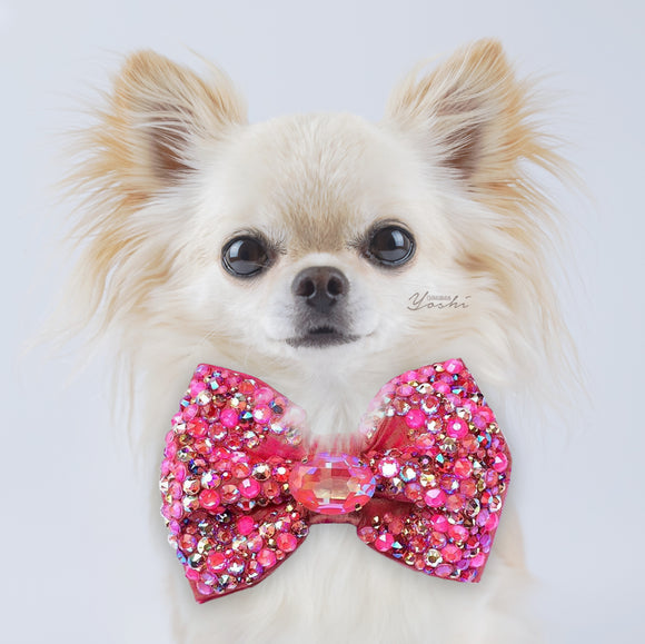 Hot Pink VIP Dog Bow