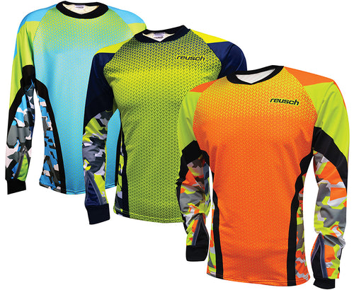 37 11 610 REUSCH CAMO WOMEN'S PRO-FIT GOALKEEPER JERSEY
