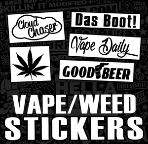 VAPE POT WINDOW STICKERS