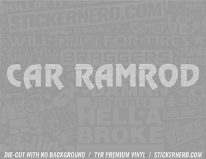 Car Ramrod Sticker - Window Decal - STICKERNERD.COM