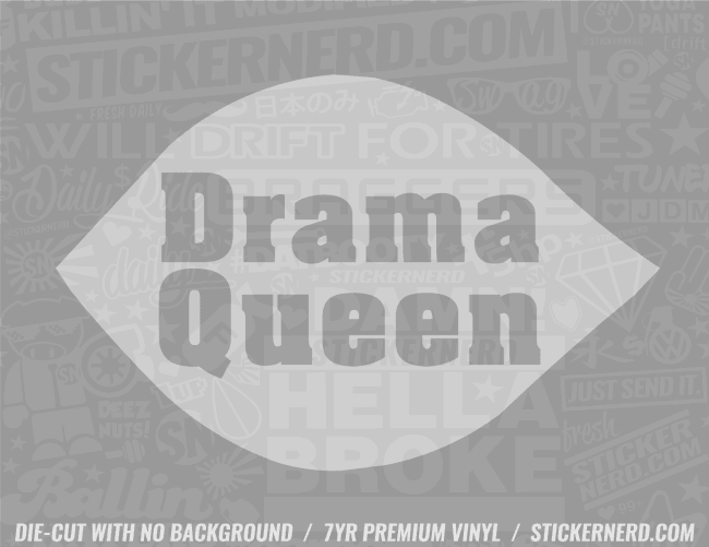 Drama Queen Sticker - Window Decal - STICKERNERD.COM
