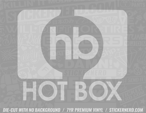 Hot Box Sticker - Window Decal - STICKERNERD.COM