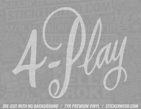 4 Play Sticker