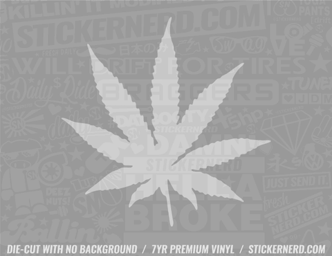 Pot Leaf Sticker - Window Decal - STICKERNERD.COM