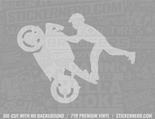 Stunt Bike Sticker
