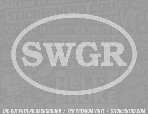 SWGR Swagger Sticker